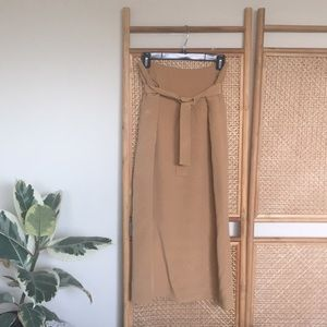 Tan 100% Silk Maxi Skirt - Dry Cleaned!